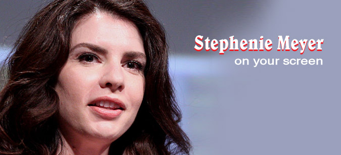 Stephenie Meyer on your screen © Gage Skidmore